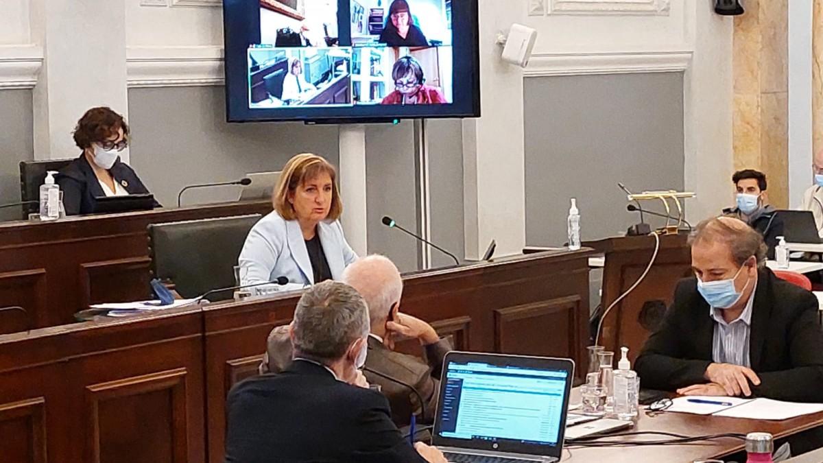 La regidora Caballero ha exposat els expedients d'ordenances i pressupostos per al 2022