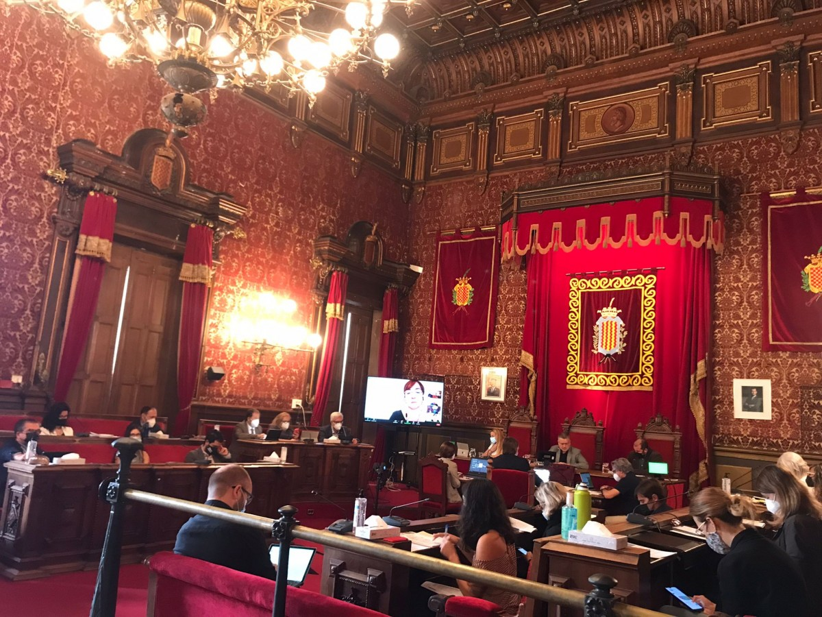 Saló de plens de l'Ajuntament de Tarragona