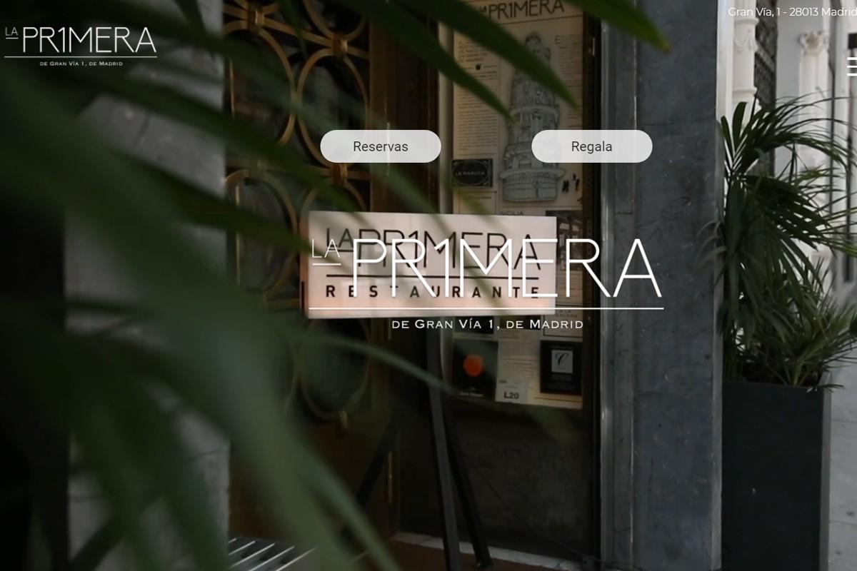 Captura del web del restaurant La Primera de Madrid