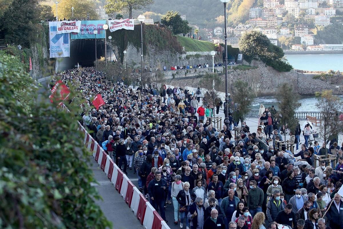 La manifestació de Sant Sebastià.