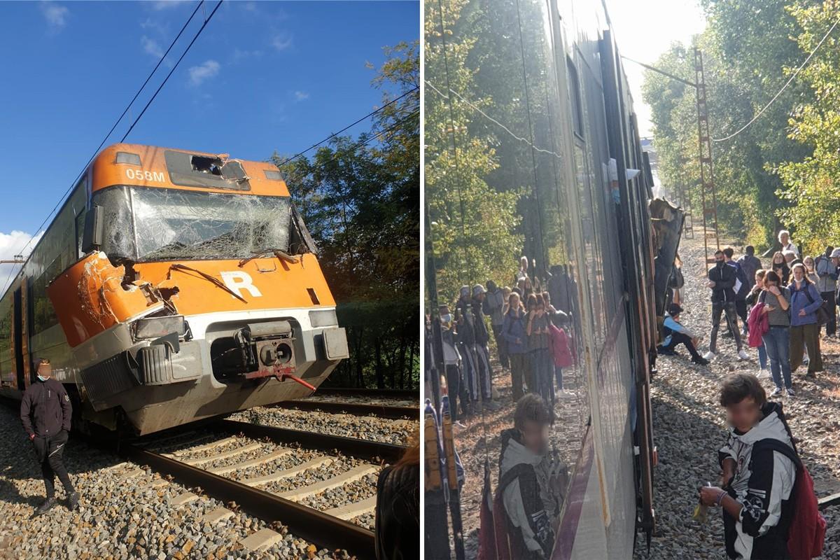 Circulació ferroviària  interrompuda entre Maçanet i Girona per un xoc amb un arbre  a la línia R11