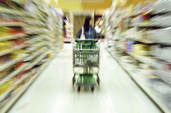 Productes d'un supermercat.