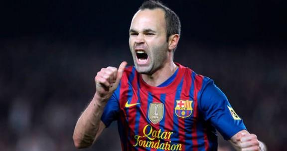 Iniesta celebrant un gol, en una imatge d'arxiu