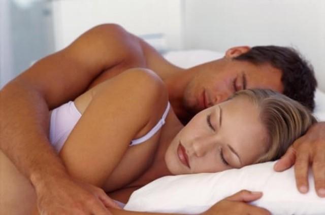 Una parella dormint