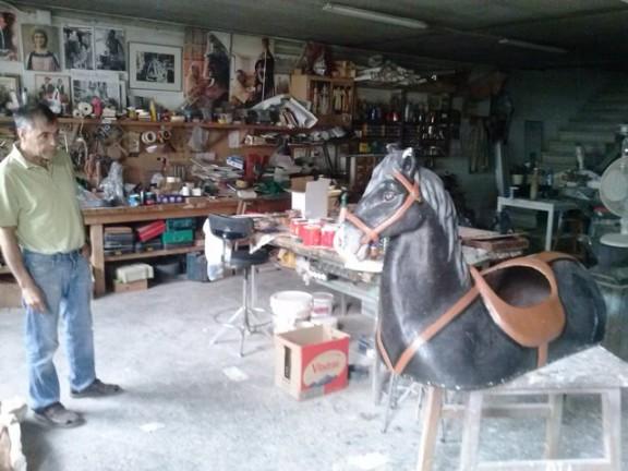 Els cavallets passen pel taller