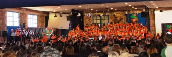 Més de dues mil persones a la cantata «SuperD» de Vacarisses