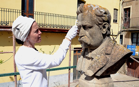 Súria fa rehabilitar el monument a Josep Anselm Clavé