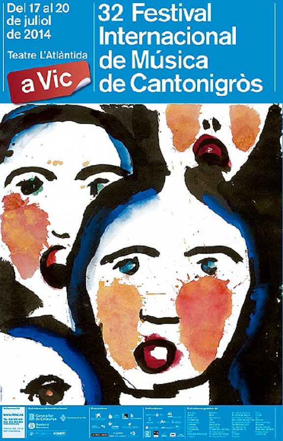Perico Pastor pinta el cartell del 32è. Festival de Música de Cantonigròs