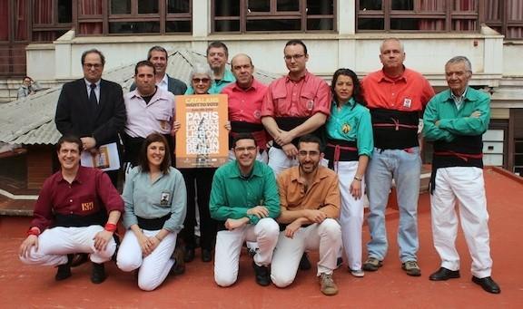 36 colles castelleres actuaran el 8 de juny pel dret a decidir