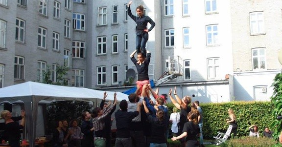Dinamarca acull una trobada castellera internacional
