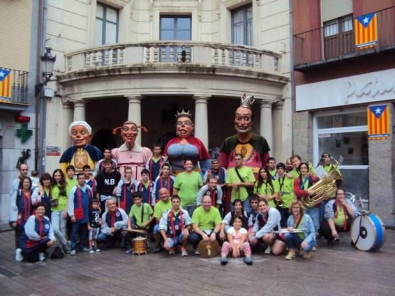 Els gegants del Carnaval de Solsona visiten Berga