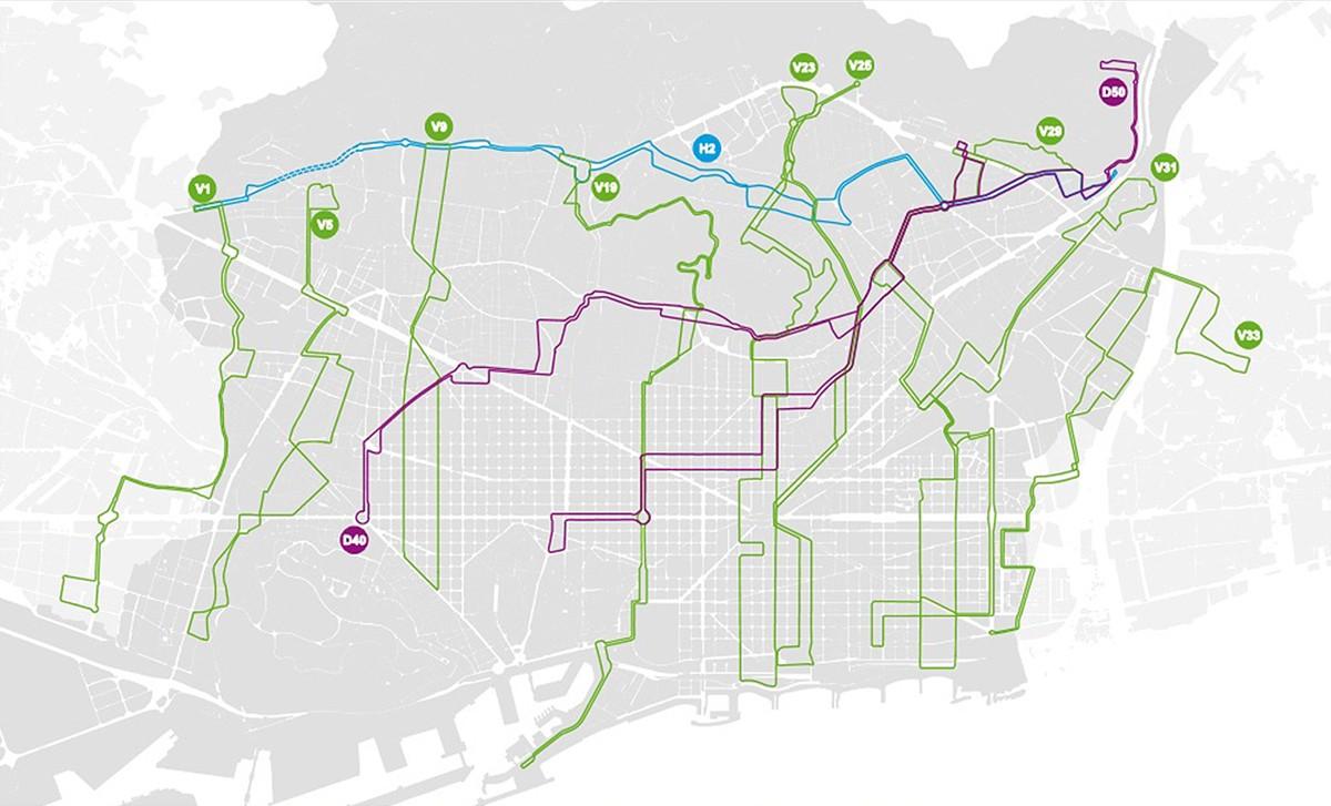 Mapa Coneix Les 12 Linies Que Completaran La Nova Xarxa D Autobus