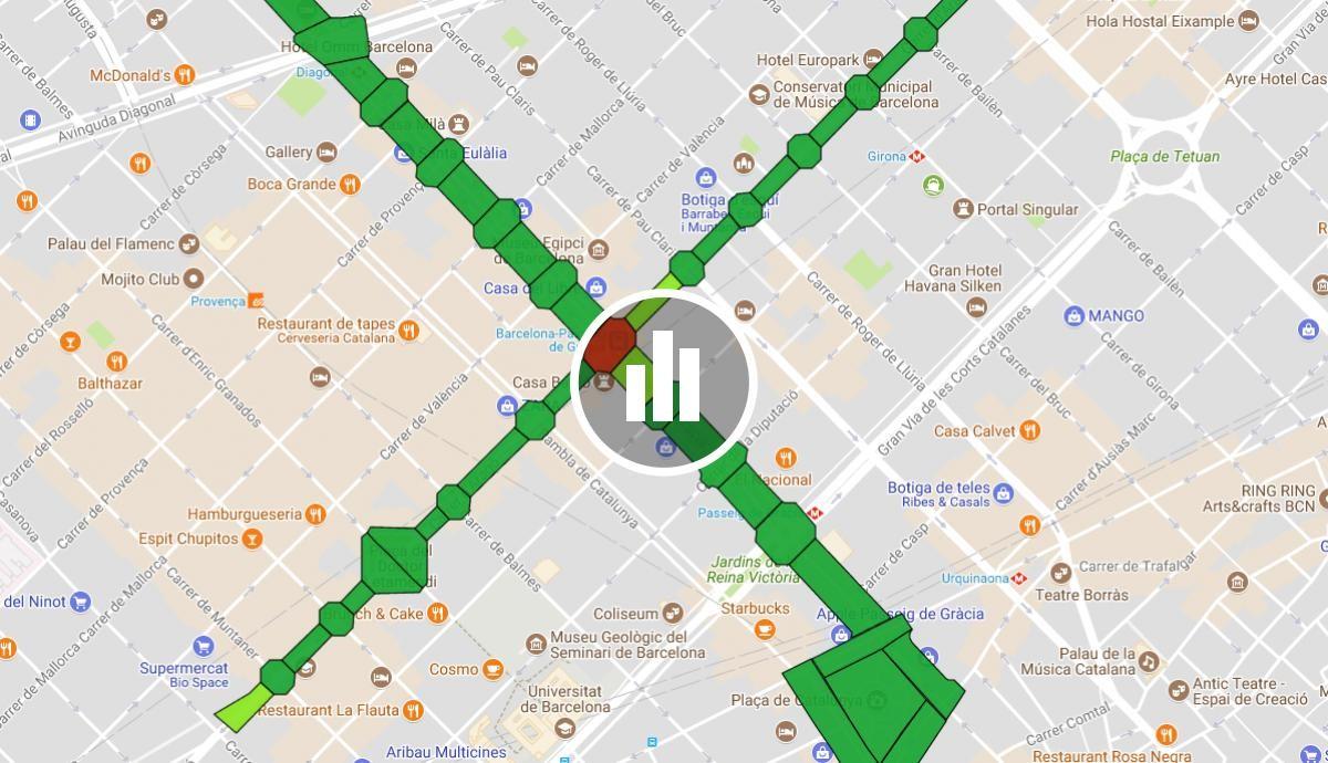 Mapa Trams Diada 2018.La Diada 2017 Tram A Tram Naciodigital