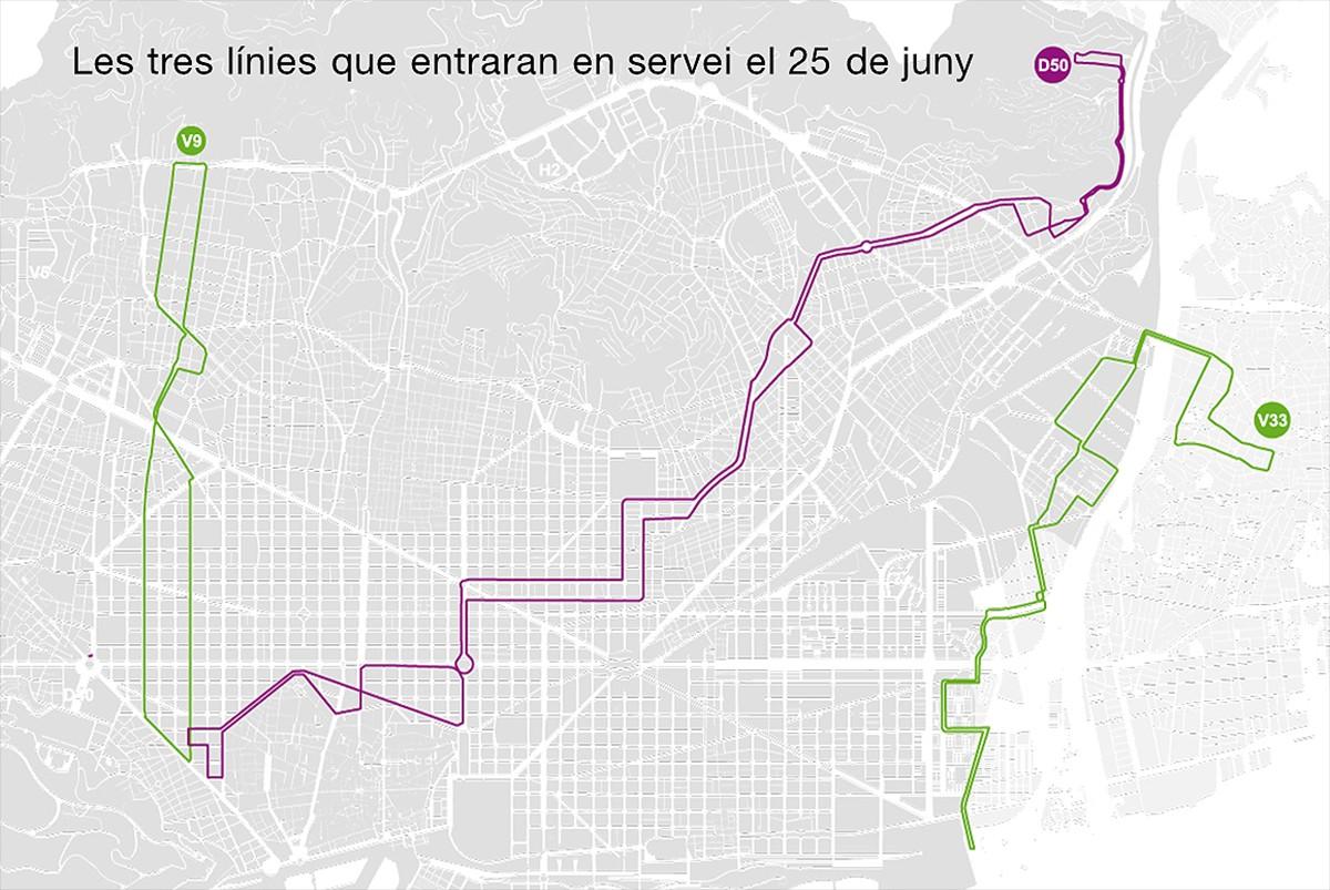 Mapa Barcelona Estrena Aquest Dilluns Tres Linies Mes De La Nova