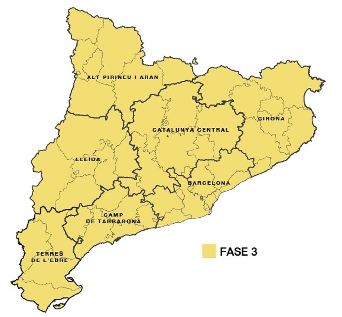 Mapa Interactiu Municipis Catalunya.Mapa Aixi Es Divideix Catalunya En Regions Sanitaries Naciodigital