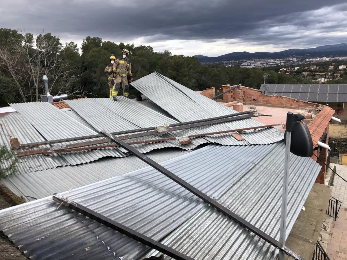FOTOS Valldoreix s'emporta la pitjor part del temporal a Sant Cugat