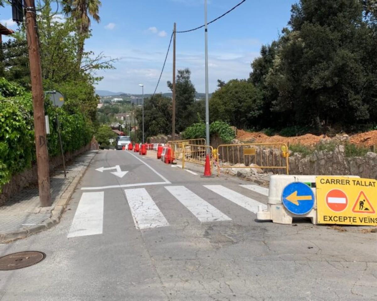 Les obres d'ampliació del passeig del Nard a Valldoreix s'acabaran després de l'estiu