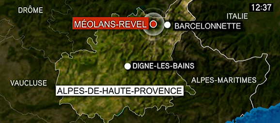 Mapa del lloc de l'accident